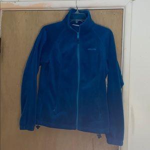 Like new, Columbia fleece zip up jacket in teal